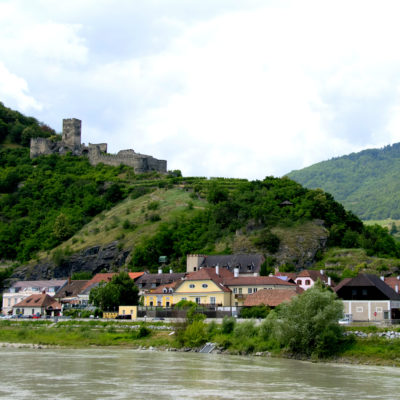 castle and milky danube with the duoro valley vineyards
